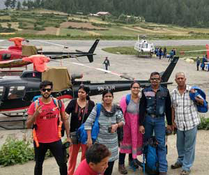 Simikot to Hilsa By Helicopter